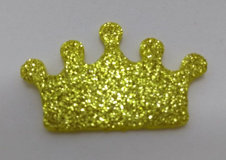 Aplique Coroa Dourada Em Eva – Dareliart